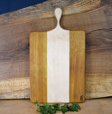 Mixed end grain serving board