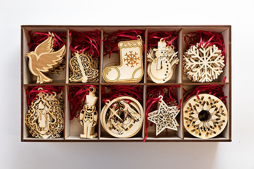 Wooden Christmas candle tree decorations