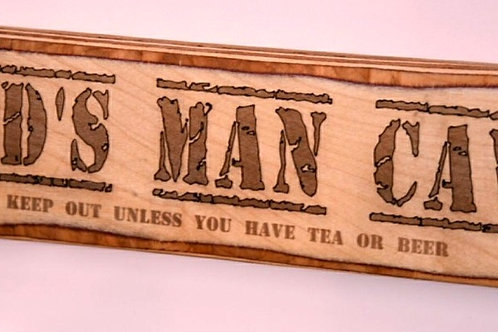 Dad's man cave wooden  sign