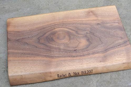 Waney edged walnut boards