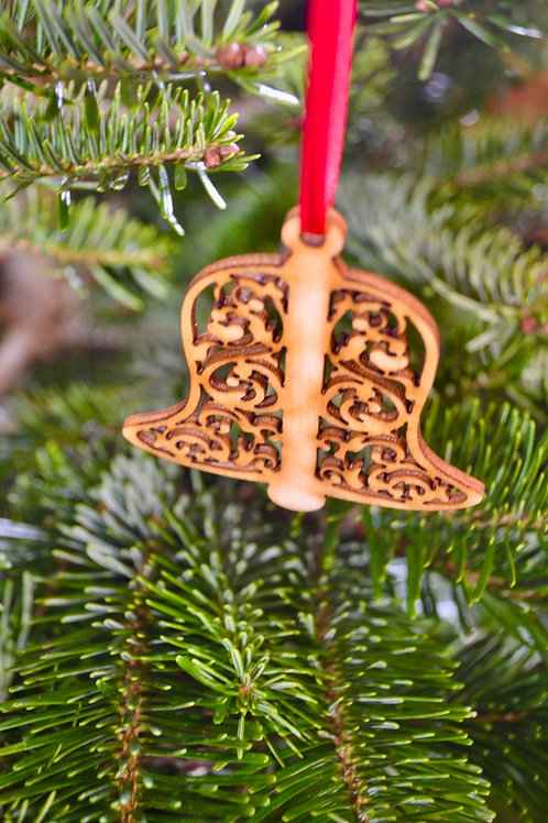 Wooden Christmas Bell tree decorations