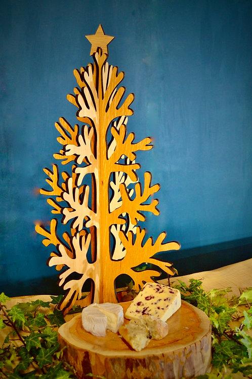 Oak veneered slotted tree 60cm