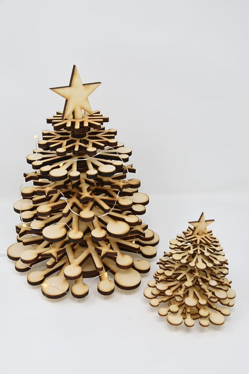 Small wooden Christmas tree kit