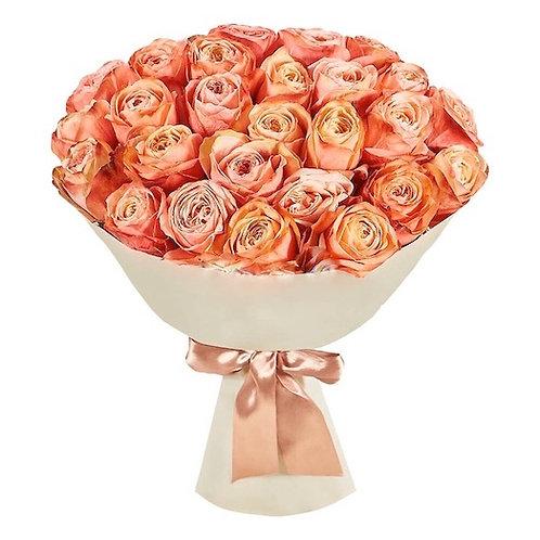 """51 пионовидная роза премиум Эквадор """"Кахала"""""""