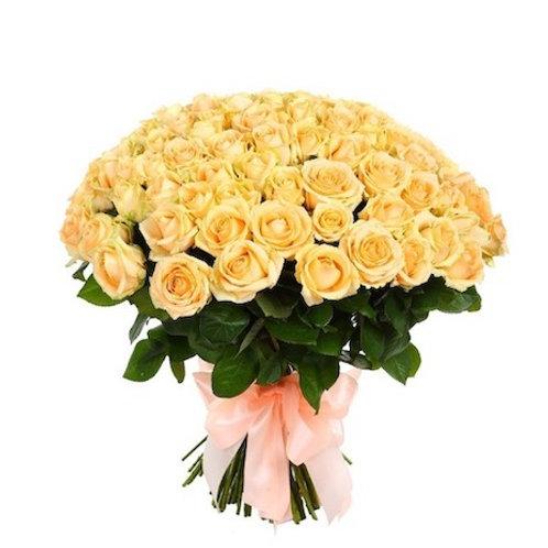 """51 роза """"Пич Аваланж"""""""