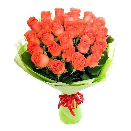 Коралловые кенийские розы 40 см поштучно (от 1 шт.)