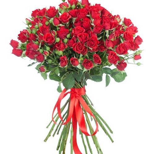Кустовые красные розы поштучно (от 10 шт.)
