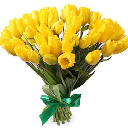 """Пионовидные Тюльпаны """"Монте Карло"""" желтые"""
