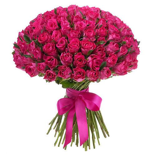 Малиновые кенийские розы 40 см поштучно (от 1 шт.)