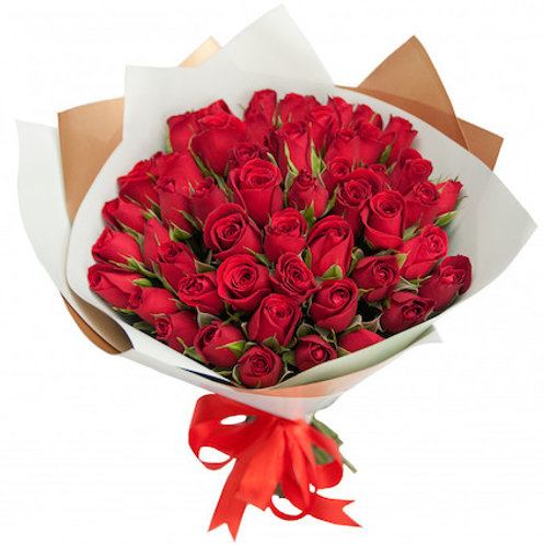 51 красная кенийская роза