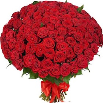 """101 роза """"Ред Наоми"""""""