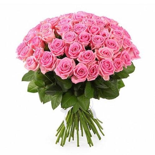 """Букет 51 роза """"Аква"""""""