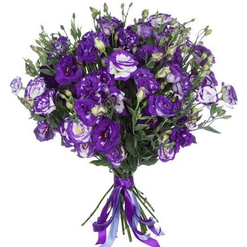 Фиолетовая эустома (лизиантус) поштучно (от 10 шт.)