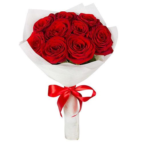 9 красных роз Ред Наоми