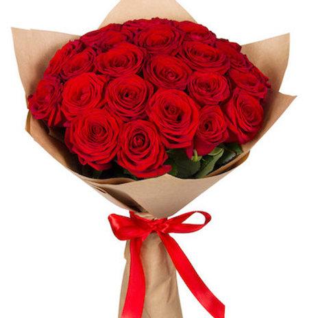 """Букет из 25 роз """"Ред Наоми"""""""