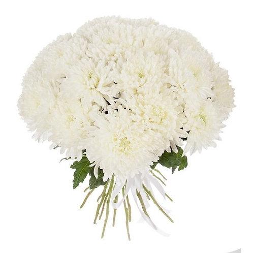 """Белые одноголовые хризантемы """"Магнум"""" поштучно (от 1 шт.)"""
