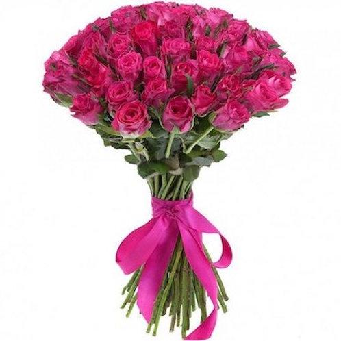 39 малиновых кенийских роз