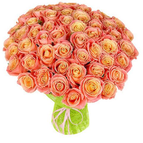 """Букет 51 роза """"Мисс Пигги"""""""