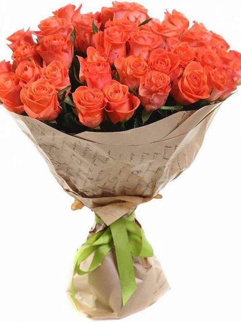 39 коралловых кенийских роз