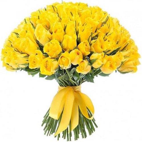 51 желтая кенийская роза 40 см