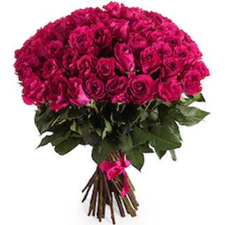 51 малиновая кенийская роза 40 см