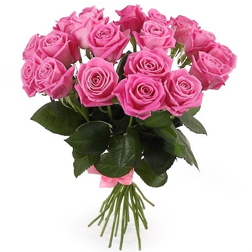 Букет из 19 розовых роз Аква