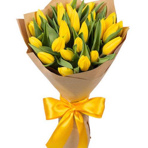 "25 тюльпанов ""Стронг Голд"""