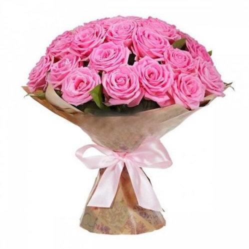 """Букет из 25 роз """"Аква"""""""
