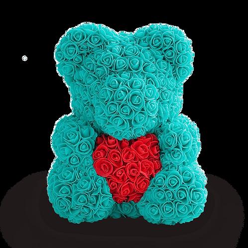 Мишка из 3D роз с сердцем