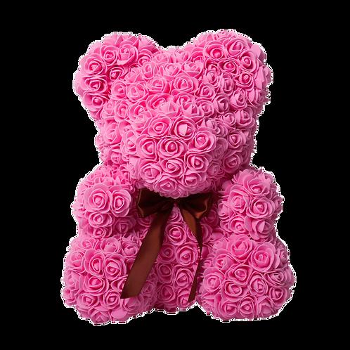 Мишка из 3D роз