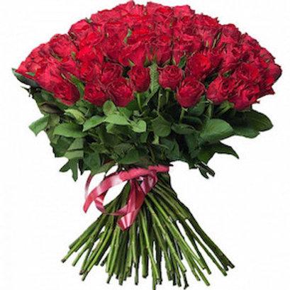 59 красных кенийских роз