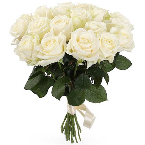 Букет из 19 белых роз Аваланж