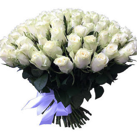 59 белых кенийских роз