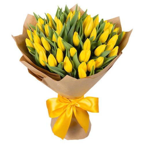 Желтые тюльпаны Голландия поштучно