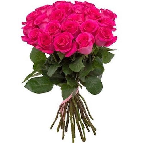 25 роз премиум Эквадор Пинк Флойд 60-70 см