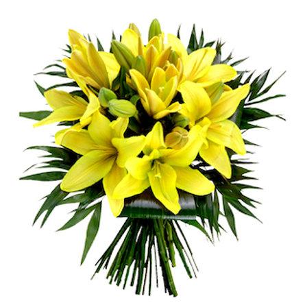 Желтые азиатские лилии поштучно