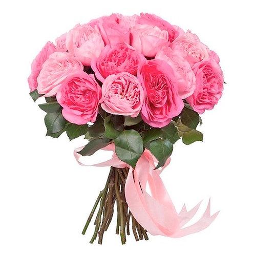 "25 пионовидных роз ""Лондон Ай"""