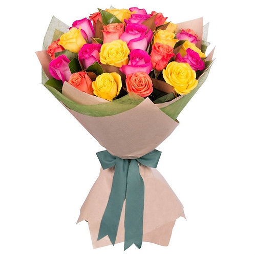 Кенийские розы Микс 40 см поштучно (от 1 шт.)