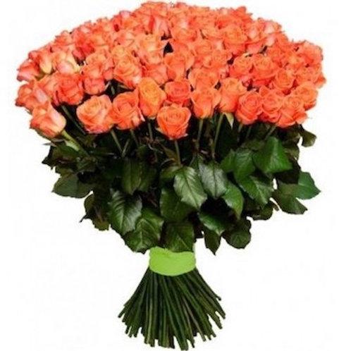 51 коралловая кенийская роза 40 см
