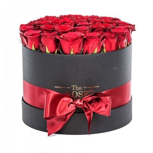 """25 роз """"Ред Наоми"""" в шляпной коробке"""