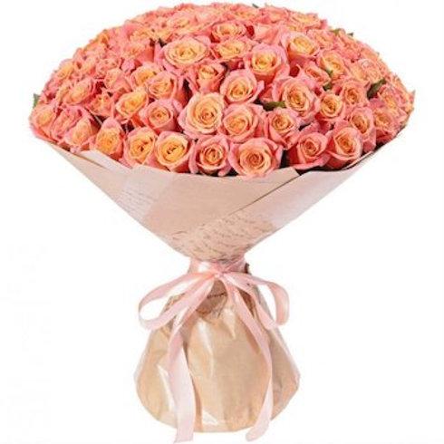 """101 роза """"Мисс Пигги"""""""
