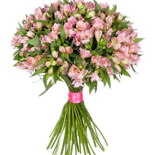 Розовая альстромерия поштучно (от 10 шт.)