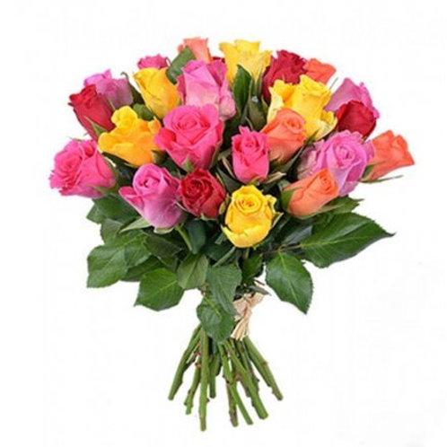 """25 кенийских роз """"Микс"""" 40 см"""