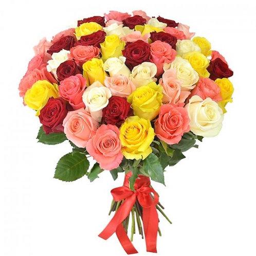 "51 роза премиум Эквадор ""Микс"""