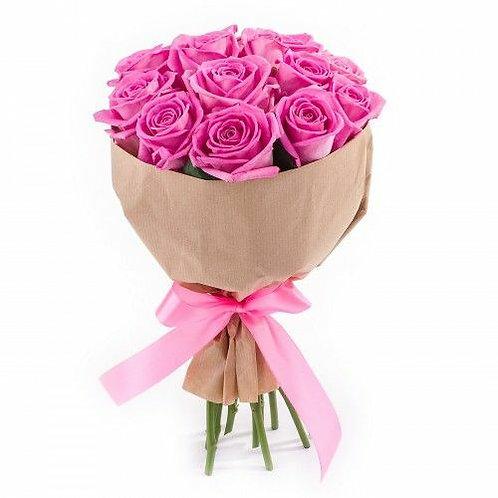 Букет из 9 розовых роз Аква