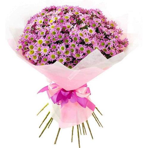 Букет из 25 розовых сантини