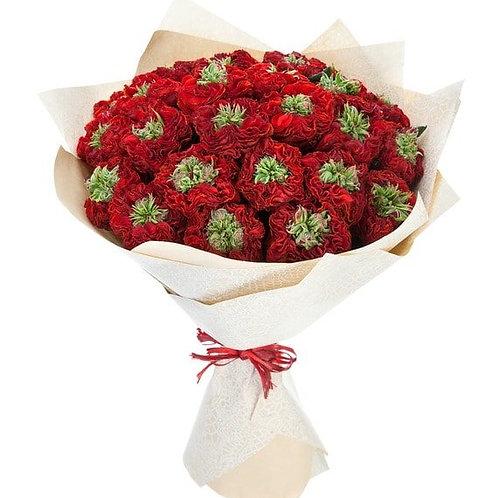 """Пионовидные розы """"Ред Ай"""" поштучно"""