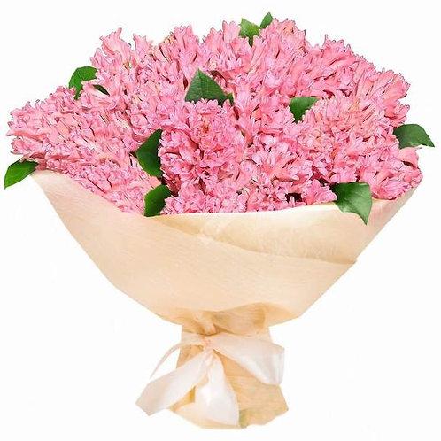 Розовые гиацинты поштучно