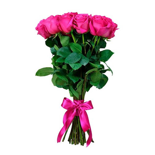 25 розовых кенийских роз 40 см