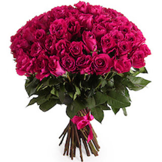 59 малиновых кенийских роз